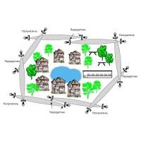 Принцип установки и работы датчиков обнаружения движения Microguard на большом расстоянии