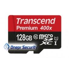 Карта памяти 128Гб Transcend microSDXC с SD-адаптером