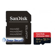 Карта памяти 64Гб SANDISK microSDXC с SD-адаптером