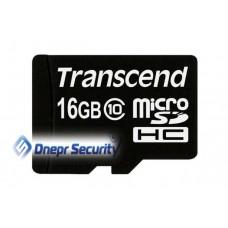 Карта памяти 16Гб Transcend microSDHC