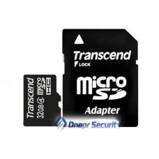 Карта памяти 32Гб Transcend microSDHC с SD-адаптером