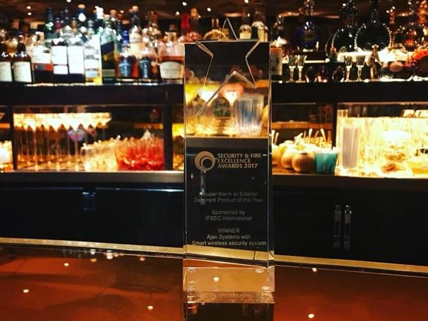 Победа Ajax на Security & Fire Excellence Awards