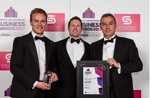 Награда компании Pyronix на ежегодном бизнес-конкурсе в 2017 году